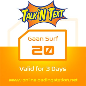 TNT Gaan Surf 20 - 3 Days