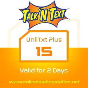 TNT UnliTxt Plus 15 - 2 Days
